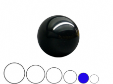 Jac Products Black Translucent 70mm Acrylic Contact Ball